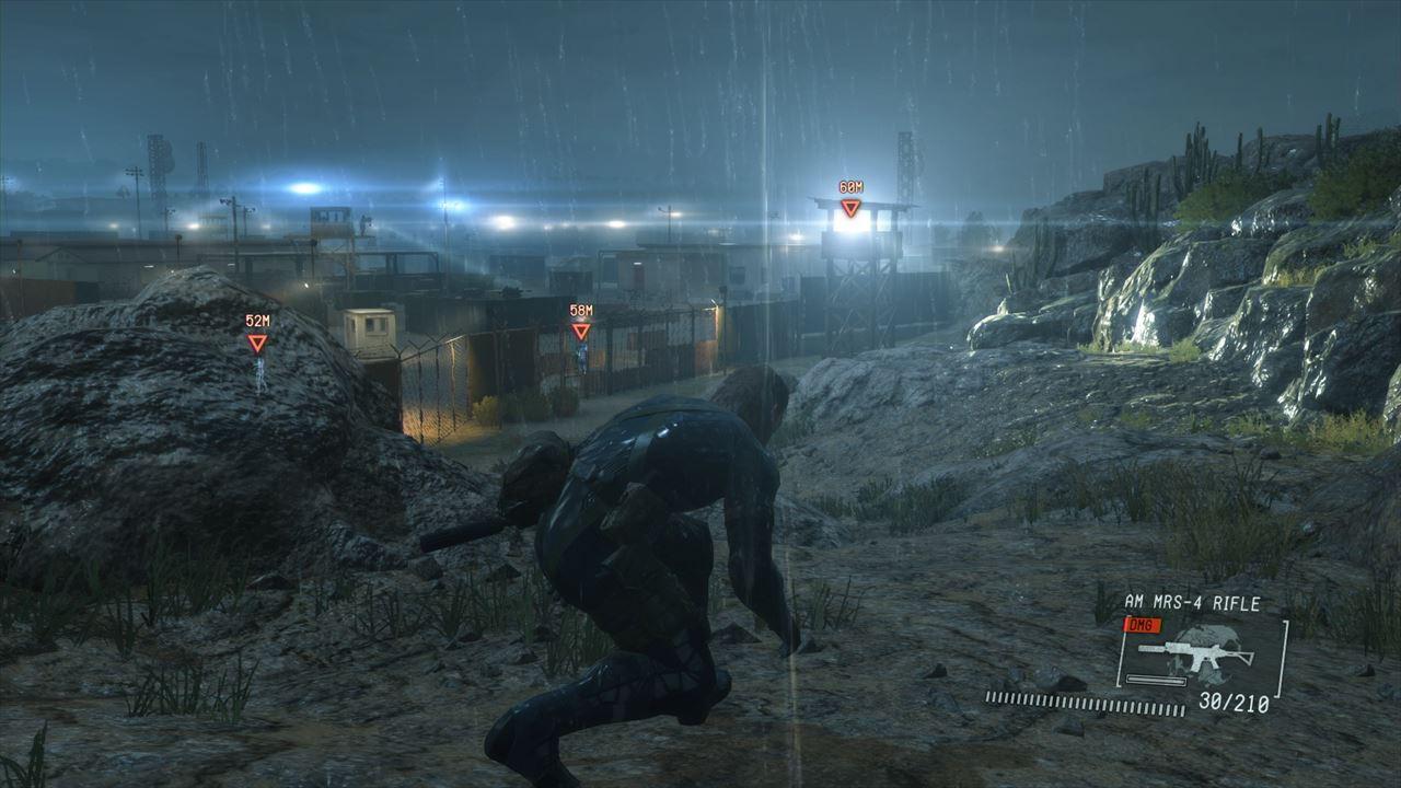 スタート直後。ここからゲームクリアまでイベントシーンも含めて全てワンカットでゲームが進行する。 暴風雨とライトの光が大変美しいが、静止画だとイマイチ伝わりづらいのが残念。