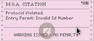 間違えてしまうと、即座に赤い電報で見落とした箇所が指摘される。これが来る時の音が非常に心臓に悪い。 ID番号? ありましたねそんな項目も。ちなみにこの電報も机の上に残る。邪魔。