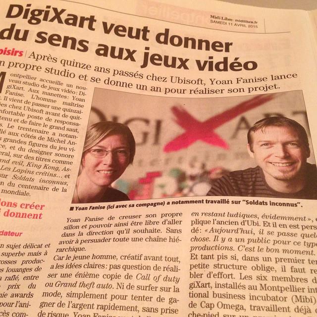 地元紙に取り上げられるDigiXart設立 (画像出典: Instagram)
