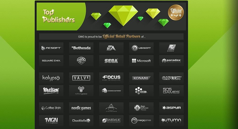 GMGが公開するオフィシャルパートナー。「CD Projekt」の名も含まれている