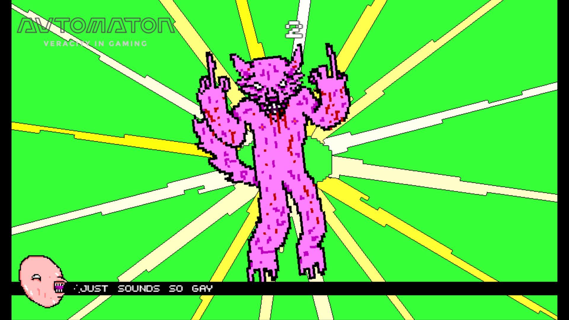 Dennis Wedinとのコラボレーションのきっかけとなった『Keyboard Drumset Fucking Werewolf』。 音楽に合わせてミニゲームをクリアしていく。