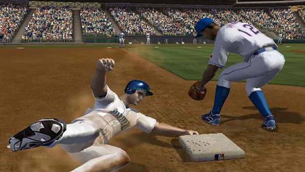 『MLB 2K5』。ベースランニングのコーチング機能が導入された。