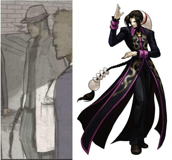 左:『DIVEKICK』より、Don Luo。右: 『KOF XIII』より、デュオロン。