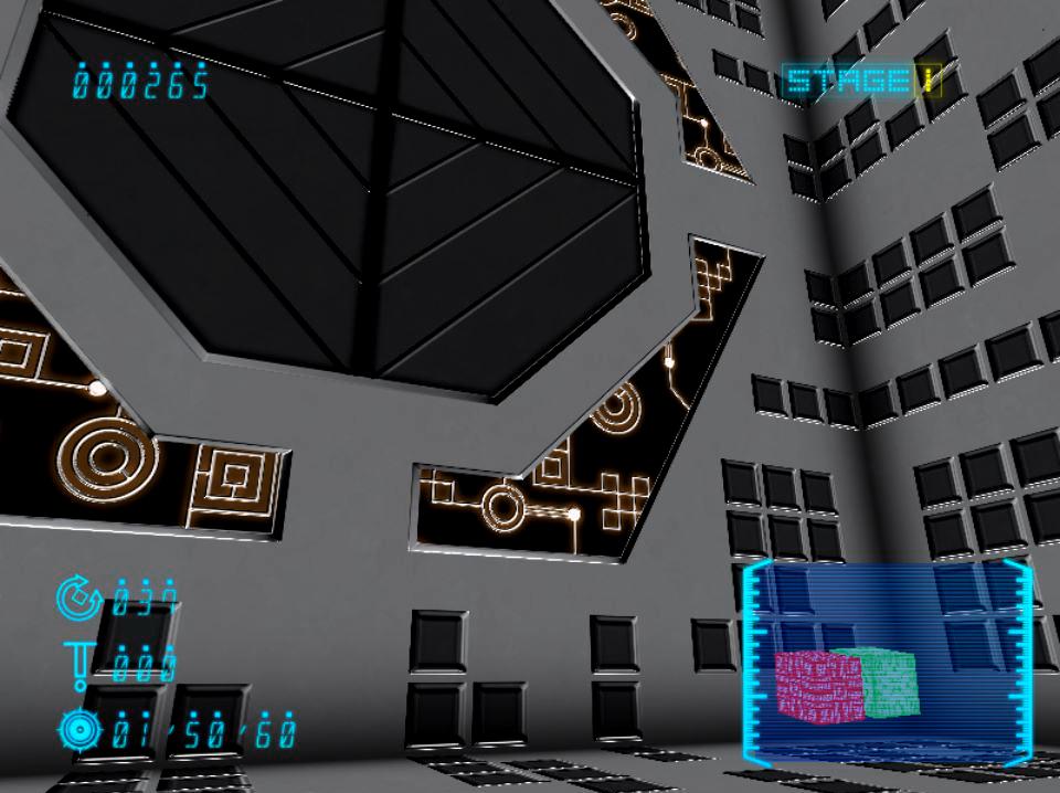 右下に見えるのがパズルの状況。部屋がきちんと繋がっていれば、目の前の黒いゲートが開く。