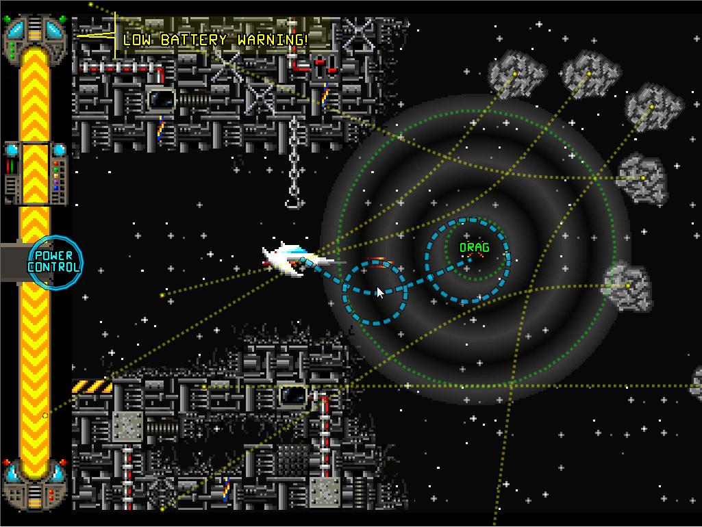 武器には重力井戸を発生させ進行方向を捻じ曲げる「Gravity Well」や障壁を発生させる「Gravity Bubbles」などユニークなものも