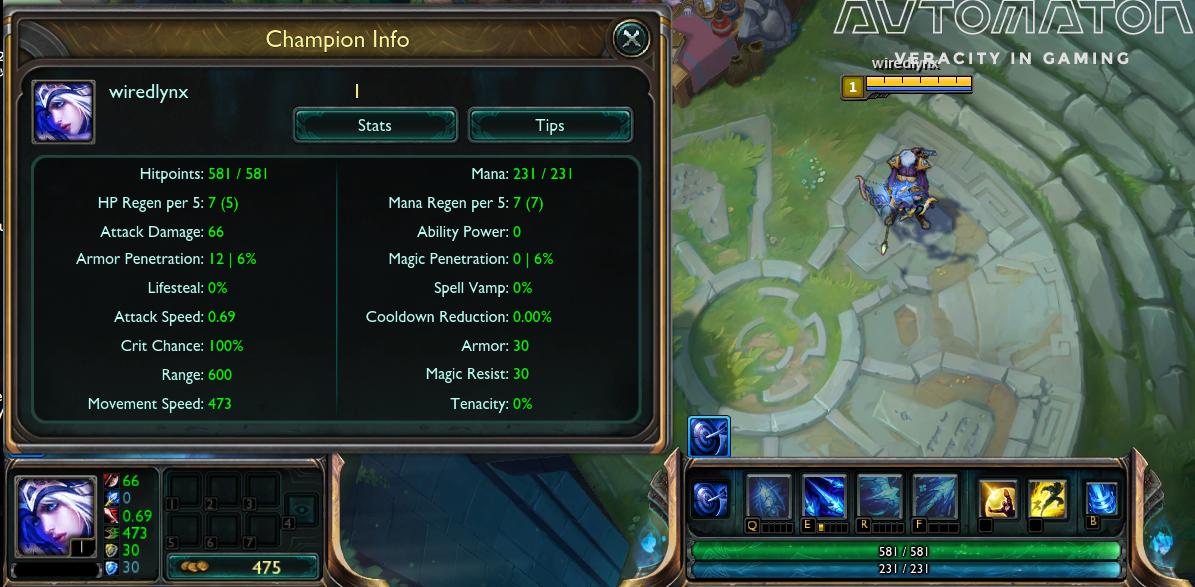 ゲーム内左下のチャンプの顔アイコンをクリックすると情報を参照できる。 慣れてくれば顔アイコン右の簡易表示で大まかなところは把握できる。