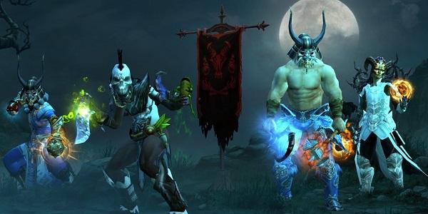 左から僧侶・勇者・戦士・魔法使いの伝統的なバランス構成パーティー
