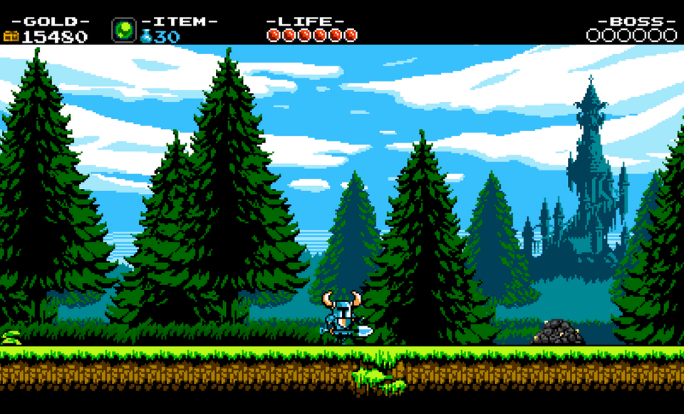 シャベル片手にひた走る青い騎士。シャベルは立派な武器である。