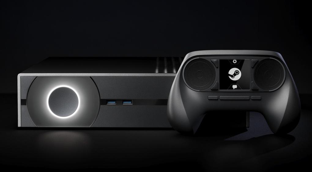 Steam MachineとSteam Controllerのイメージ画像。 実際には10社以上が手がけるため、様々な形状のものが登場する。