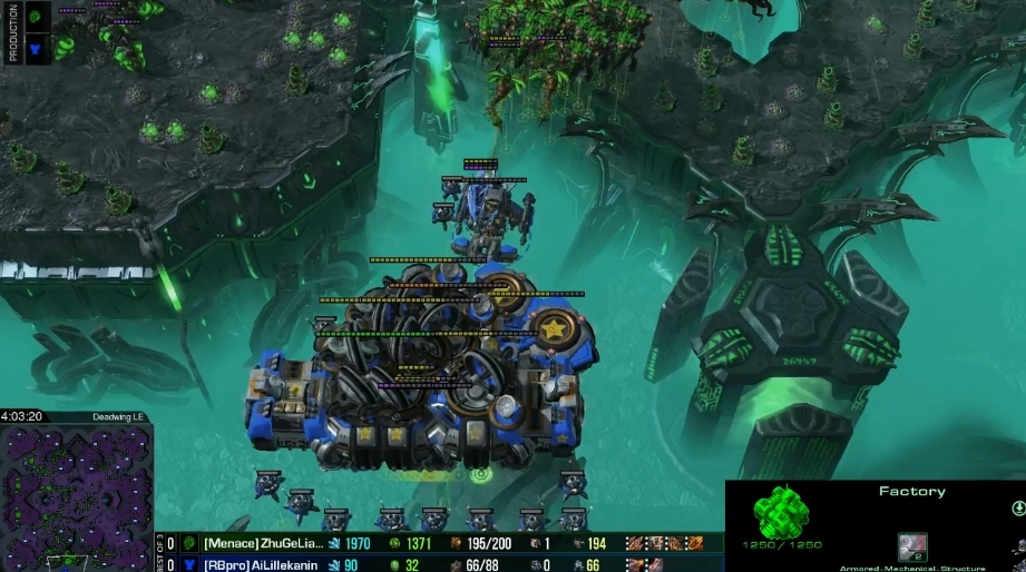 Terranユニットを引っ張るViper