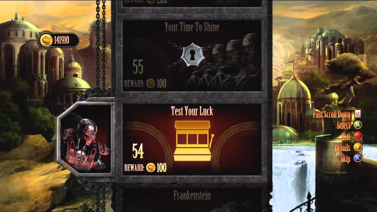 『Mortal Kombat(2011)』の「Challenge Tower」モード