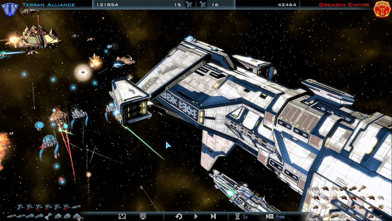OPムービーの完全再現とはいかないものの、グラフィックは格段に進歩した。戦闘中の艦船は、その造形からすべて設計できる。 宇宙船の設計は、宇宙の再設計に等しい。夢の艦隊をつくるために、惑星を支配し、技術開発しよう。