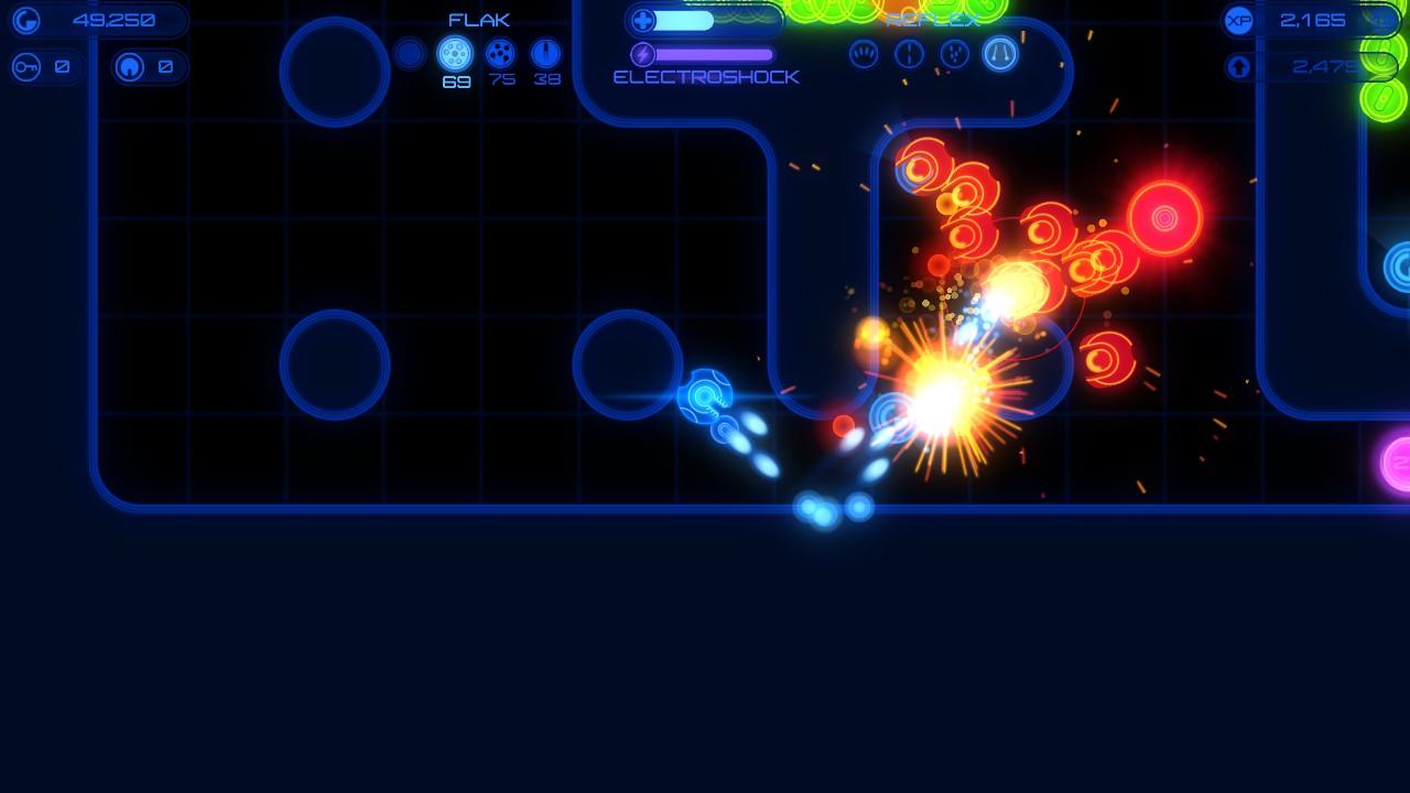 広い空間であれば広範囲に弾が飛ぶ「Spread」が有効だが、狭い通路ならば弾が壁に反射する「Reflex」を使うといい。