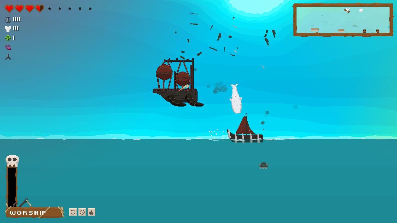 飛行船に対しては下からの攻撃も有効。