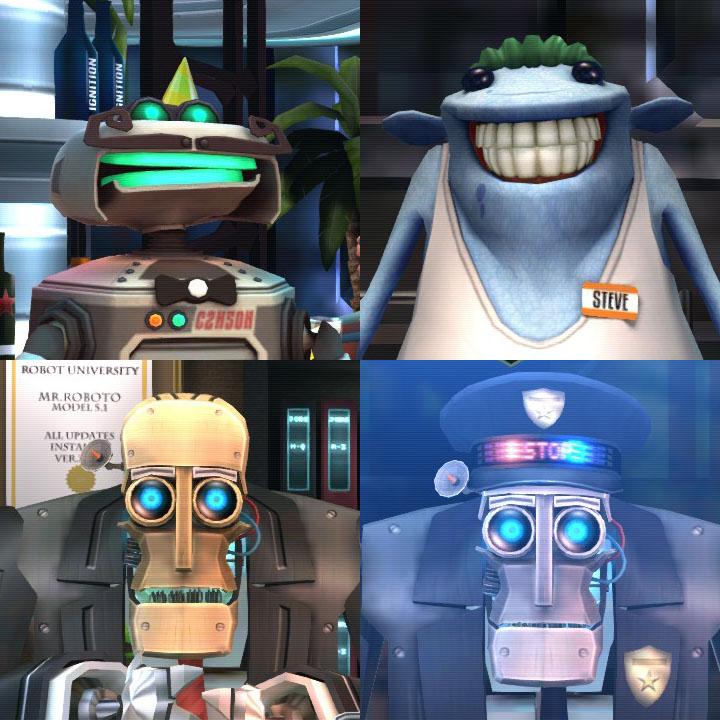登場キャラクター。かれらの動きもコミカルで見所がある。