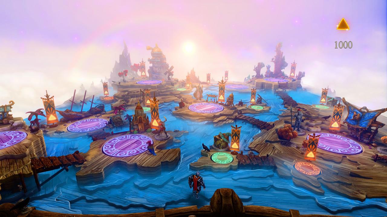 魅力的なボードゲーム風のワールドマップ。しかし、プレイできるのは、この画像の範囲に見えるステージで全部だ。
