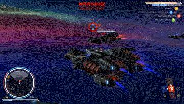 併走する敵に夢中となり、前方の大型艦から攻撃をうけた。よそ見運転を内包する戦闘は、危機一髪のシチュエーションを生みだす。