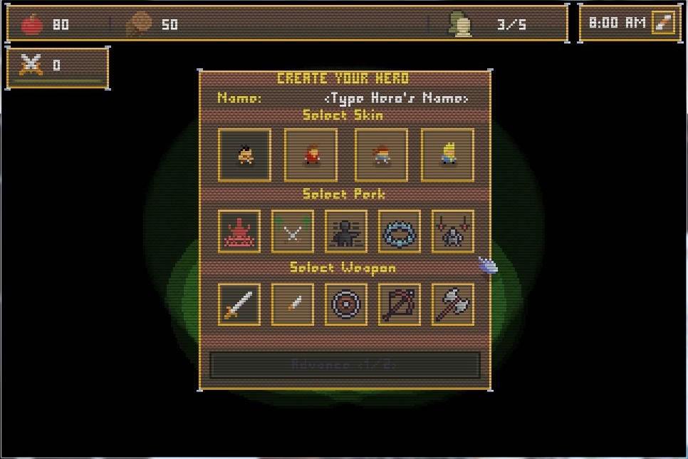 ゲーム開始時に作成するヒーローは唯一、死亡してもリスポーン可能なユニット。ヒールやステルスなどの特殊能力を1つ選び付与可能