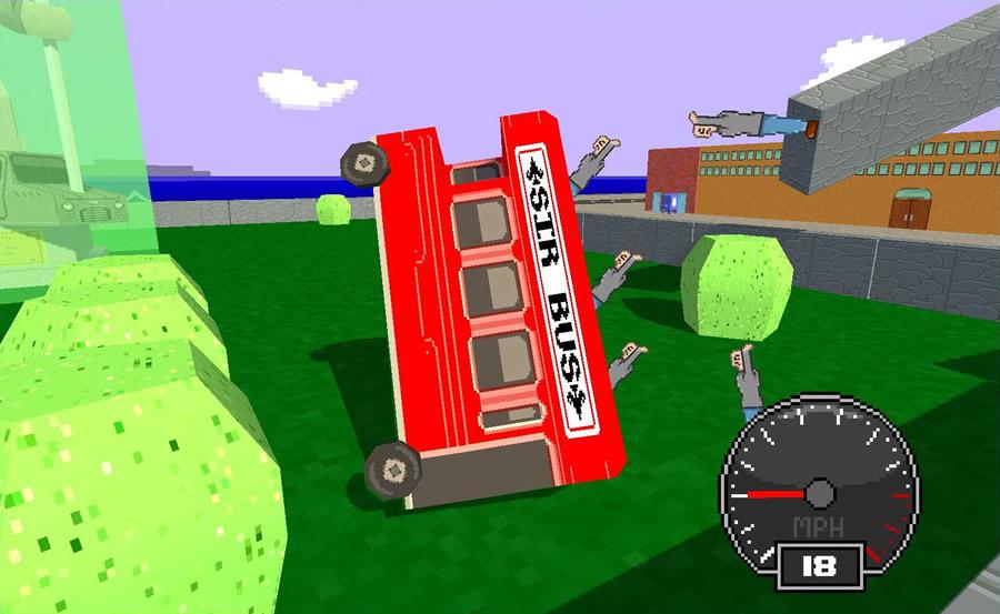 ダブルデッカー(二階建てバス)にツアー客を乗せ、順番通りに街を観光案内せよというミッションでは急カーブや衝突で客が全員振り落とされるとゲームオーバーだ。