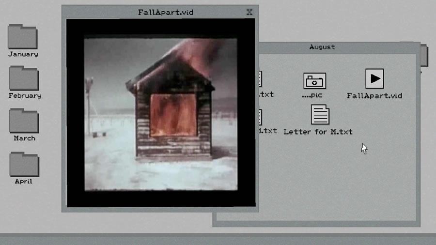 小屋が燃えてる動画ファイル