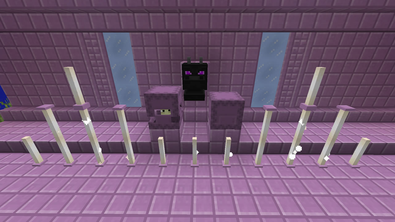 ドラゴンの頭や紫のブロックが追加され建築の楽しみも広がった。