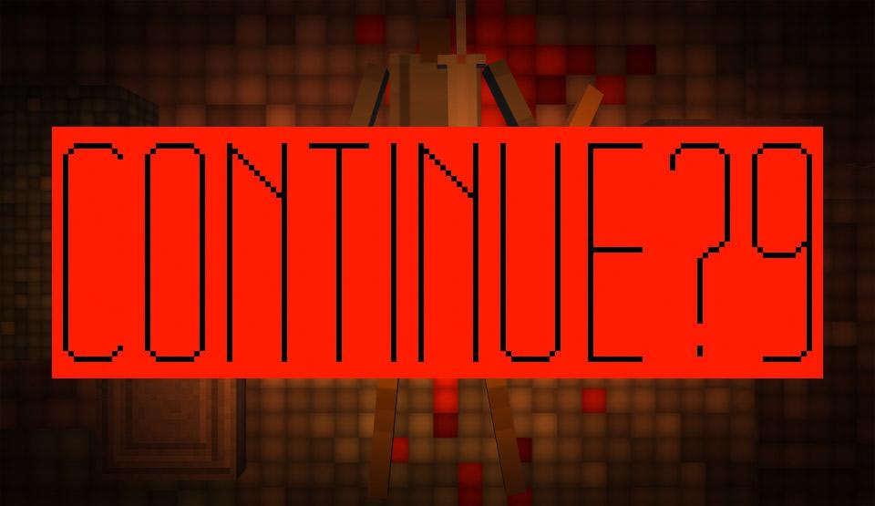 『Continue? 9876543210』導入部。カウントが0を刻んだあと、ゲームが始まる。