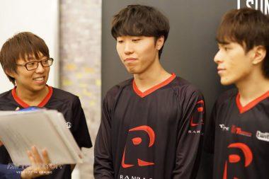 インタビューに応じるPaz選手(左)Tussle選手(中央)Roki選手(右)