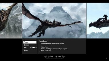 Xbox One版のMod選択画面