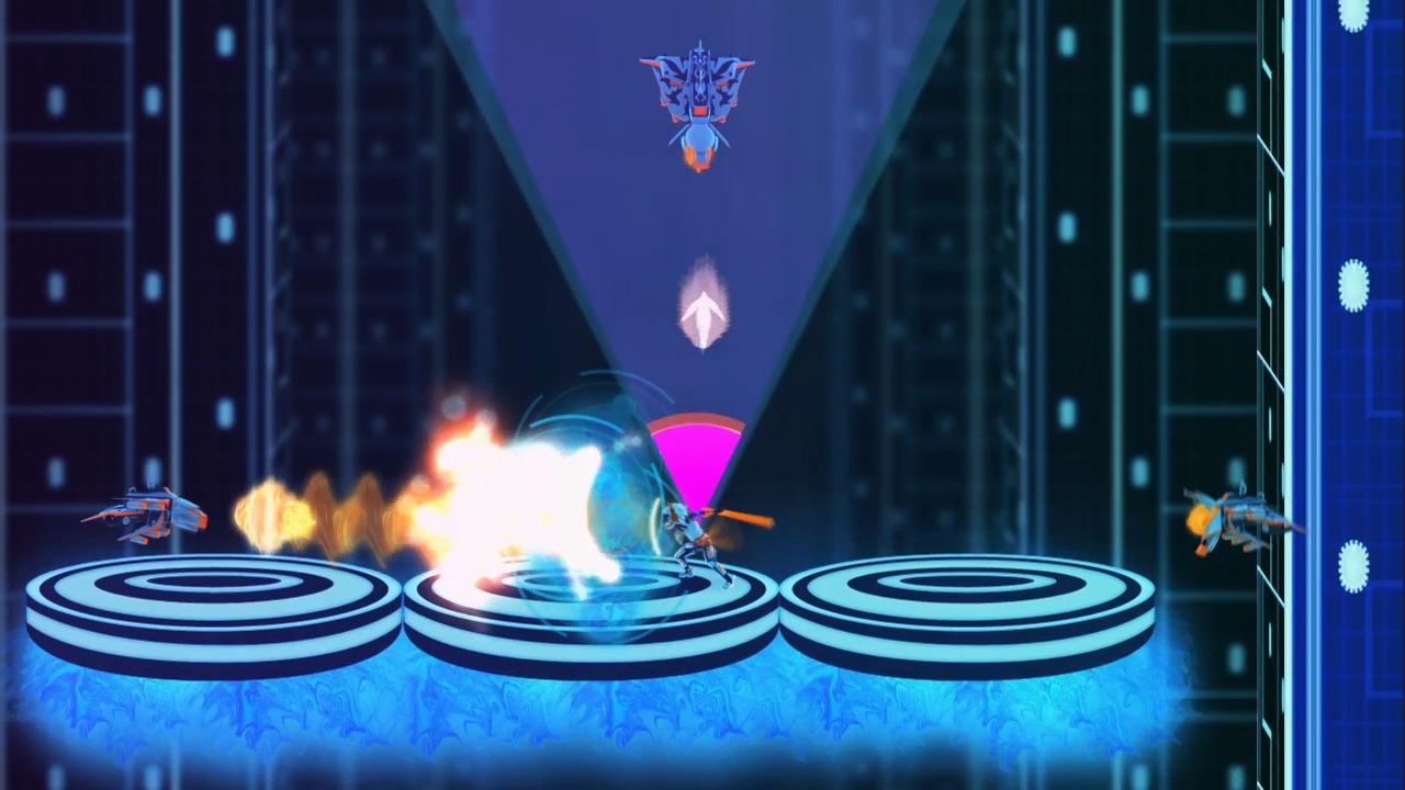 キャラクターの周りに表示されるメーターがフルになるタイミングで敵の攻撃を打ち返す