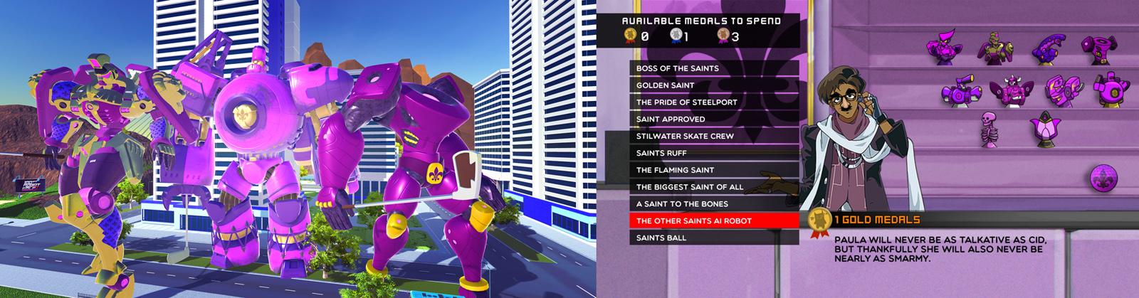 ロボットのカスタマイズには『Saints Row』とのコラボレーションも