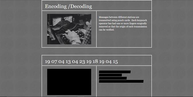 怪しげなサイト「The Daedalus Project」 には、『Here They Lie』の世界をより知ることができる情報が掲載されている。サイトには見ている途中で突然画面にノイズが走ったり、不気味な音が鳴り響くといった仕掛けも