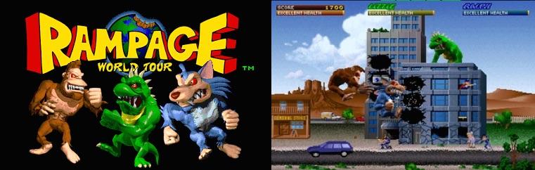 1997年にアーケードゲームとして発売された『Rampage World Tour』。筆者もかなり遊び込んだ記憶がある
