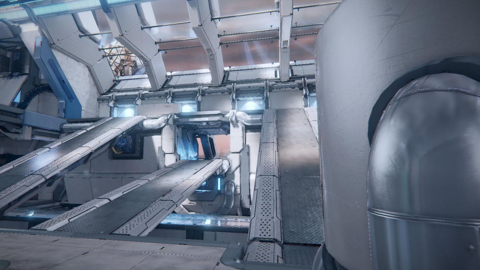 公式マップ「DEKK」は『UT』シリーズに収録された定番マップのクローンだ。これを例にアリーナシューターの遊びかたを紹介する。