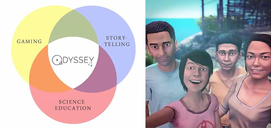 Kaiとその家族のストーリー、探索とパズルゲーム、そして科学の学習が一体となった体験を提供する