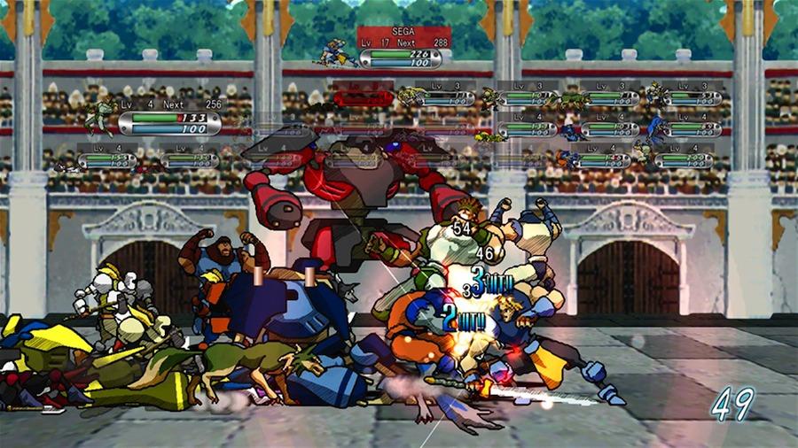新たに追加された「アーケードモード」では、体力が尽きるまでに敵を何人倒せるかを競う