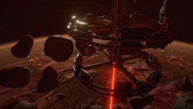 惑星を採掘する巨大ステーションが浮かぶガンマセクター。倒す必要がある『LoL』のドラゴンやバロンとちがい、キャプチャーするだけで効果を得られる。