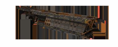 無料戦艦、Zarek製Venturer。小惑星採掘船の鉱業技術を船殻破壊に軍事転用した支援戦艦である。主砲は低威力だが即着のレーザー。素早い敵艦も逃さない。だが、この艦の真価は戦闘支援能力だ。副砲アーマーブレイカーは1発でアーマーを破壊できダメージ効率を大幅に引き上げる。他にも、周囲味方艦HPの回復や、ダメージ吸収ブイの設置で、自身とともに味方を支え続ける。チーム戦を実感したいならVenturerだ。