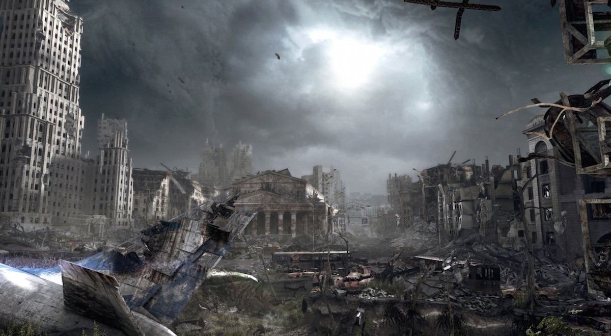 『Metro: Last Light』の画像。核戦争により崩壊したモスクワ市街