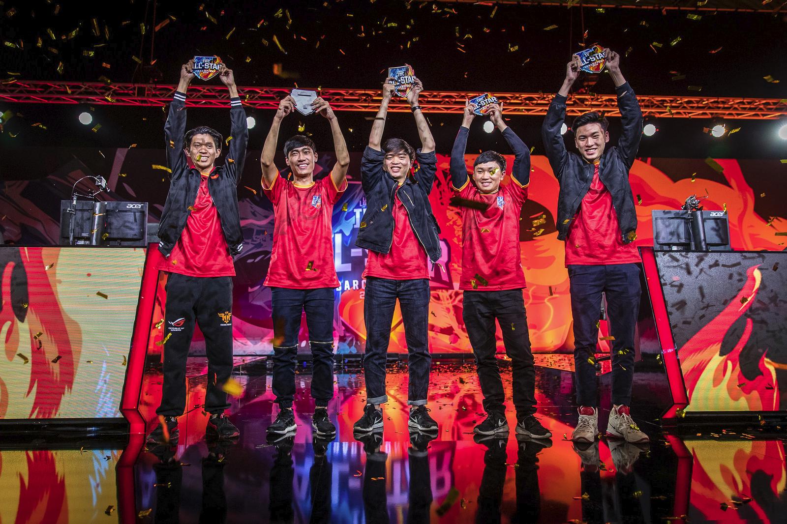 バルセロナで12月上旬に行われた「IWC All-Star」優勝の東南アジアオールスターチーム。逆境にもかかわらず大きな成果を上げた。画像出典:Riot esports Flickr