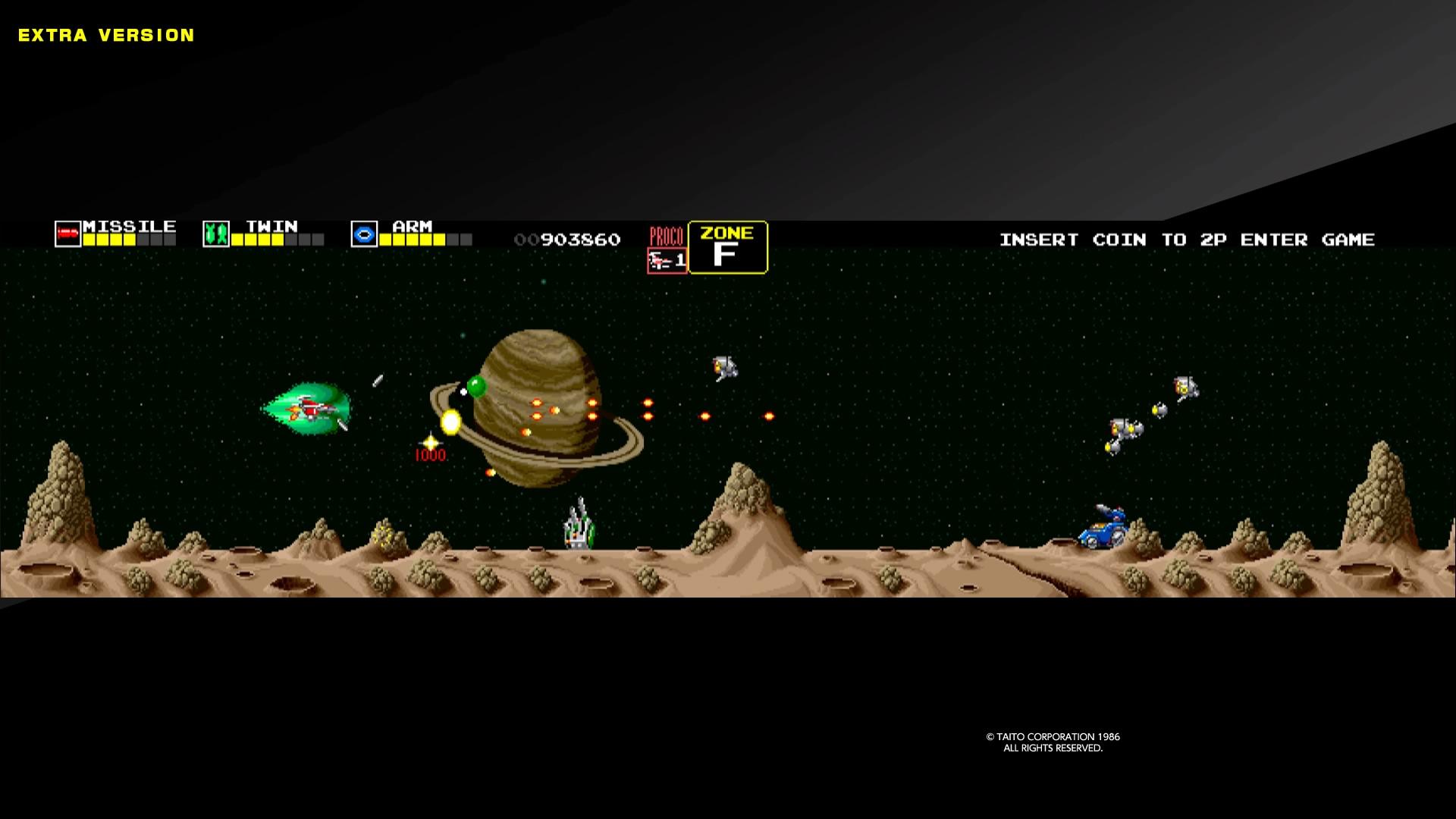 シューティングゲームとしてはオーソドックスな作り。画面が横に長いため、弾切れを起こすことも