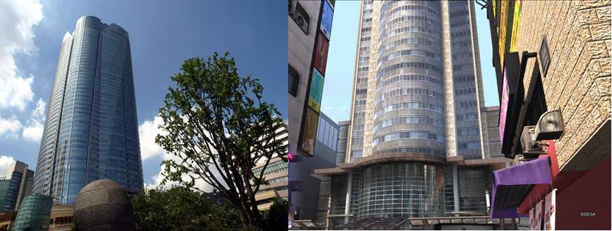 画像下 左が六本木ヒルズ森タワー。右が新宿神室町ミレニアムタワー