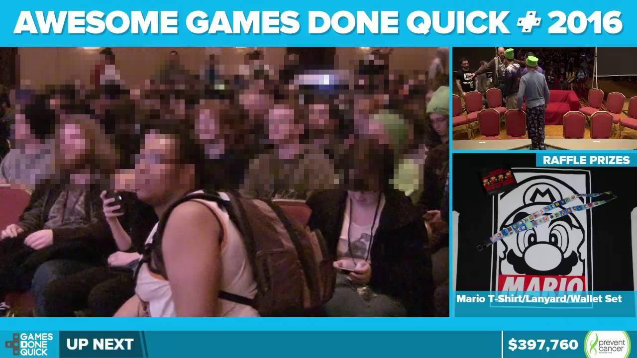 GDQは実際に会場にプレイヤーたちが集まる形で開催され、その様子をインターネットを通じて配信するイベント