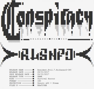 海賊版『バイオハザード7』のファイル情報 Image Credit: TorrentFreak