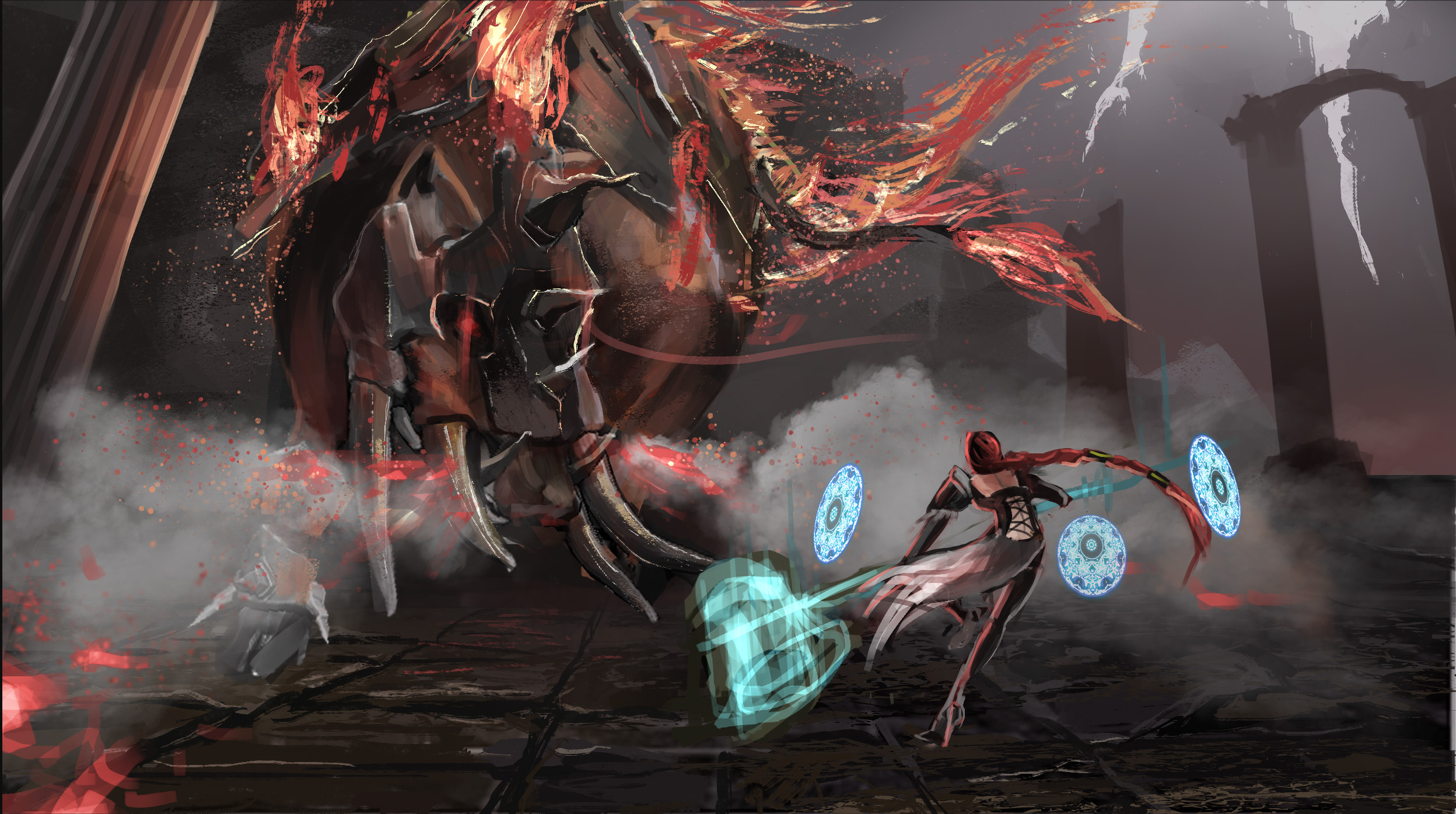 ゲーム全体のイメージを示すコンセプトアート