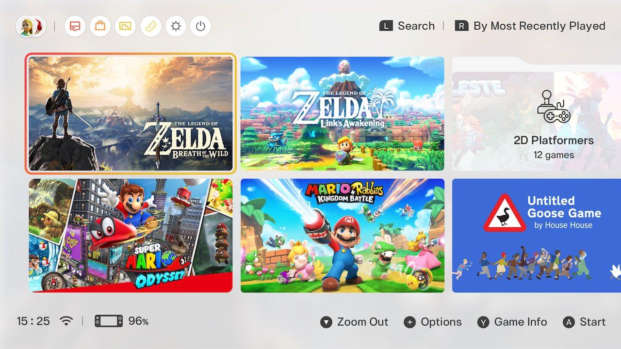 Nintendo Switchの ホーム画面のui を独自に改善する あそび が